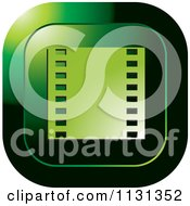 Clipart Of A Green Film Strip Icon Royalty Free Vector Illustration by Lal Perera