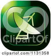 Clipart Of A Green Satellite Icon Royalty Free Vector Illustration by Lal Perera