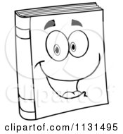 Cartoon Of A Happy Book Mascot Royalty Free Vector Clipart