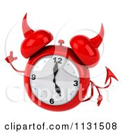 Clipart Of A 3d Devil Alarm Clock With An Idea Royalty Free CGI Illustration by Julos