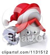 3d Christmas White House Holding A Euro Symbol