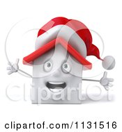 Clipart Of A 3d Christmas White House With Open Arms Royalty Free CGI Illustration by Julos