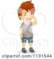 Cartoon Of A Boy Crying Royalty Free Vector Clipart