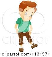Cartoon Of A Boy Going Through A Growth Spurt Royalty Free Vector Clipart