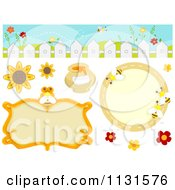 Cartoon Of Bee Frames And Design Elements Royalty Free Vector Clipart by BNP Design Studio