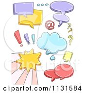 Cartoon Of Colorful Speech Balloons Royalty Free Vector Clipart