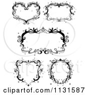 Cartoon Of Black Ornate Sparkly Frames Royalty Free Vector Clipart