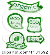 Cartoon Of Green Eco And Organic Design Elements Royalty Free Vector Clipart