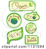 Cartoon Of Eco And Organic Design Elements Royalty Free Vector Clipart