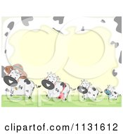 Cartoon Of A Happy Cow Frame Royalty Free Vector Clipart