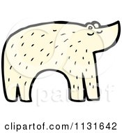 Cartoon Of An Arctic Polar Bear Royalty Free Vector Clipart by lineartestpilot