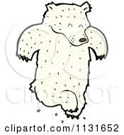 Cartoon Of A Dancing Polar Bear Royalty Free Vector Clipart