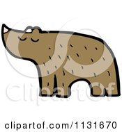 Cartoon Of A Brown Bear Royalty Free Vector Clipart by lineartestpilot