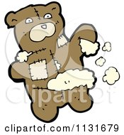 Cartoon Of A Ripped Up Teddy Bear 3 Royalty Free Vector Clipart by lineartestpilot