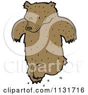 Cartoon Of A Dancing Bear Royalty Free Vector Clipart