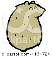 Cartoon Of A Sitting Hamster 1 Royalty Free Vector Clipart by lineartestpilot