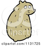 Cartoon Of A Sitting Hamster 2 Royalty Free Vector Clipart