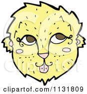 Cartoon Of A Wild Lioness Face 1 Royalty Free Vector Clipart