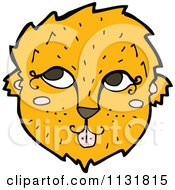 Cartoon Of A Wild Lioness Face 2 Royalty Free Vector Clipart