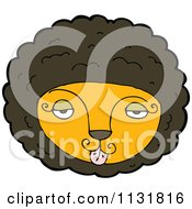Cartoon Of A Wild Male Lion Face 2 Royalty Free Vector Clipart