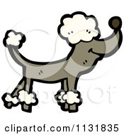Cartoon Of A Brown Poodle Royalty Free Vector Clipart by lineartestpilot