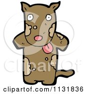 Cartoon Of A Brown Pooch Dog Royalty Free Vector Clipart by lineartestpilot