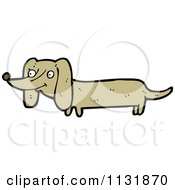 Cartoon Of A Weiner Dog Royalty Free Vector Clipart