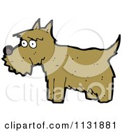 Cartoon Of A Brown Terrier Dog 1 Royalty Free Vector Clipart