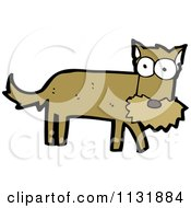 Cartoon Of A Brown Terrier Dog 2 Royalty Free Vector Clipart