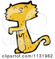 Cartoon Of A Ginger Cat Begging Royalty Free Vector Clipart
