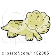 Cartoon Of A Triceratops Dinosaur Royalty Free Vector Clipart