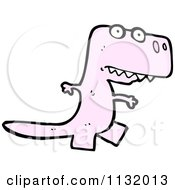 Cartoon Of A Pink Tyrannosaurus Rex Royalty Free Vector Clipart