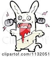 Cartoon Of A Zombie Rabbit 2 Royalty Free Vector Clipart by lineartestpilot