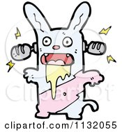 Cartoon Of A Zombie Rabbit 1 Royalty Free Vector Clipart by lineartestpilot