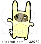Cartoon Of A Boy In A Bunny Costume Royalty Free Vector Clipart by lineartestpilot