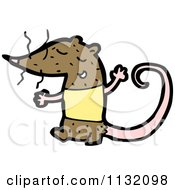 Cartoon Of A Brown Rat Royalty Free Vector Clipart