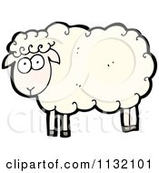 Cartoon Of A White Sheep Royalty Free Vector Clipart