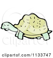 Cartoon Of A Turtle 6 Royalty Free Vector Clipart by lineartestpilot