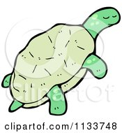 Cartoon Of A Turtle 3 Royalty Free Vector Clipart by lineartestpilot