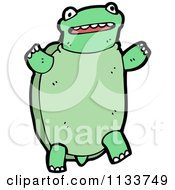 Cartoon Of A Turtle 4 Royalty Free Vector Clipart by lineartestpilot