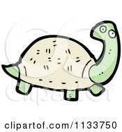 Cartoon Of A Tortoise Royalty Free Vector Clipart by lineartestpilot