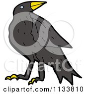Cartoon Of A Raven Crow Bird 1 Royalty Free Vector Clipart