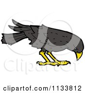 Cartoon Of A Raven Crow Bird 3 Royalty Free Vector Clipart