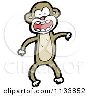 Cartoon Of A Brown Monkey 3 Royalty Free Vector Clipart by lineartestpilot