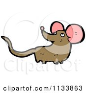 Cartoon Of A Brown Mouse Royalty Free Vector Clipart