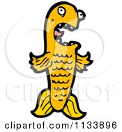 Cartoon Of An Orange Koi Fish Royalty Free Vector Clipart