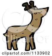 Cartoon Of A Deer Royalty Free Vector Clipart by lineartestpilot