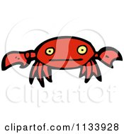 Cartoon Of A Red Crab Royalty Free Vector Clipart