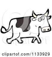 Cartoon Of A Cow Royalty Free Vector Clipart by lineartestpilot