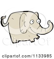 Cartoon Of A Brown Elephant 1 Royalty Free Vector Clipart